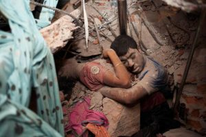 Workers killed in the Rana Plaza Ready-Made Garment factory collapse in Bangladesh, April 26, 2013. Photo: Taslima Akhter