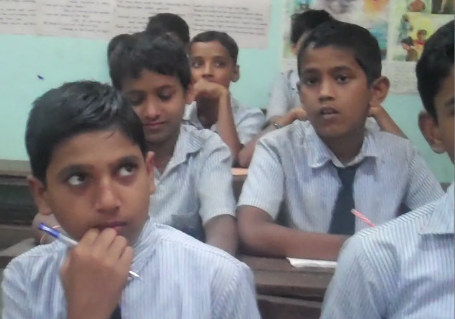 Students in a Municipal Corporation school in Mumbai, using the Sangati curriculum.